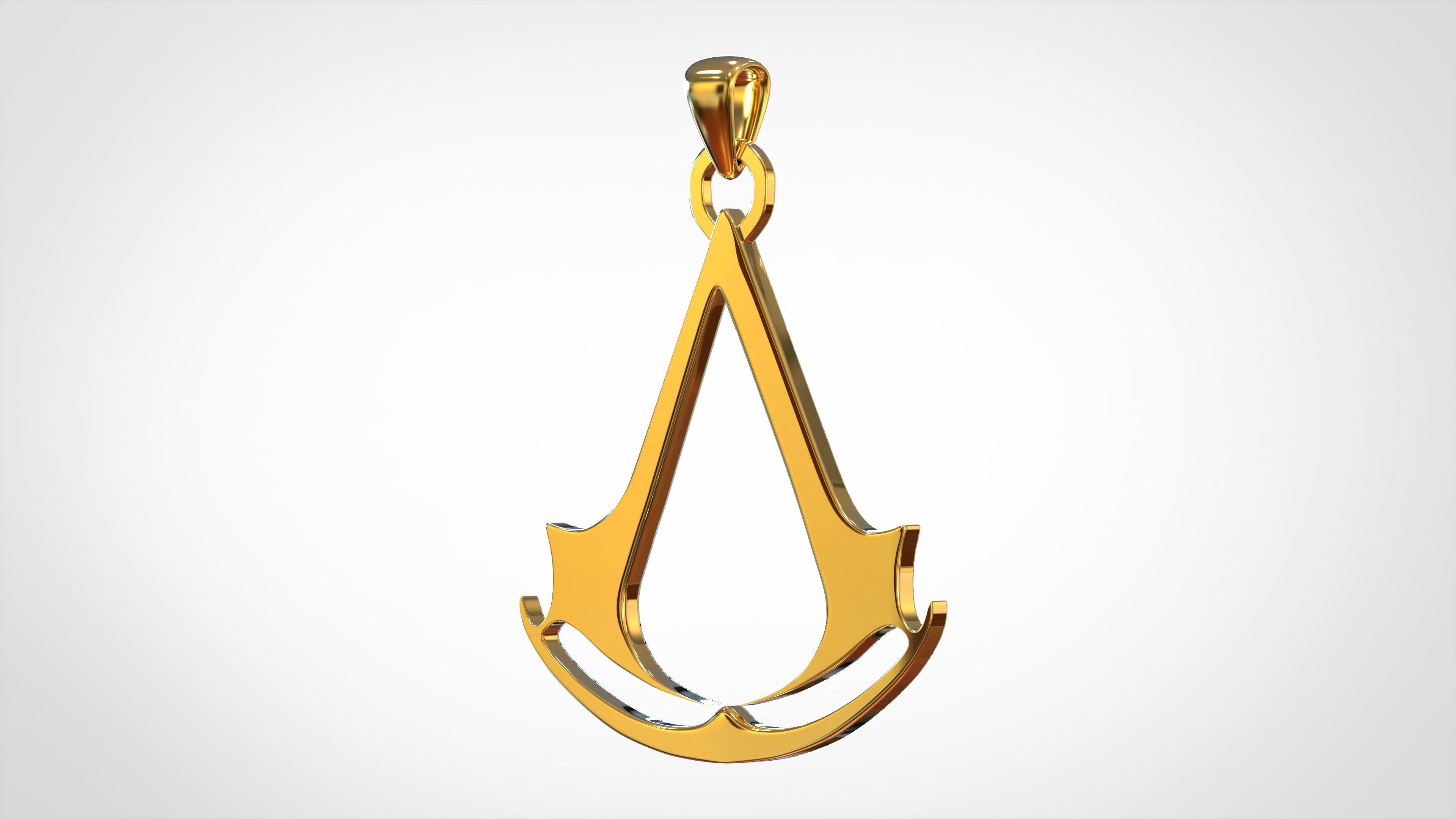 Assassins Creed Logo Pendant 3d Print Model Cgtrader
