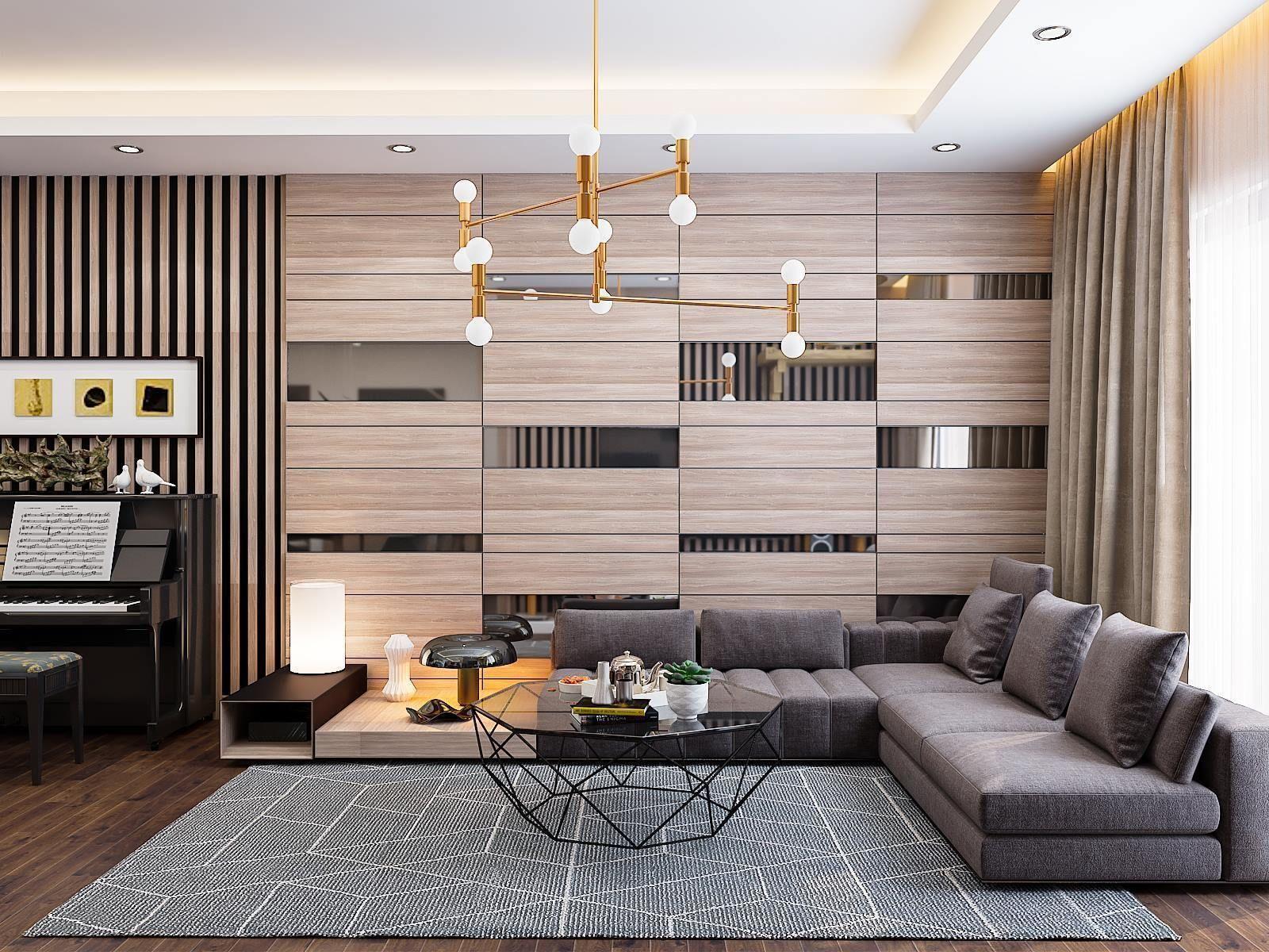 apartment living room hall kichen scene 3d model 1