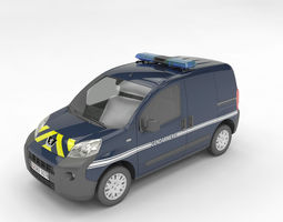 3D gendarmerie Peugeot Bipper