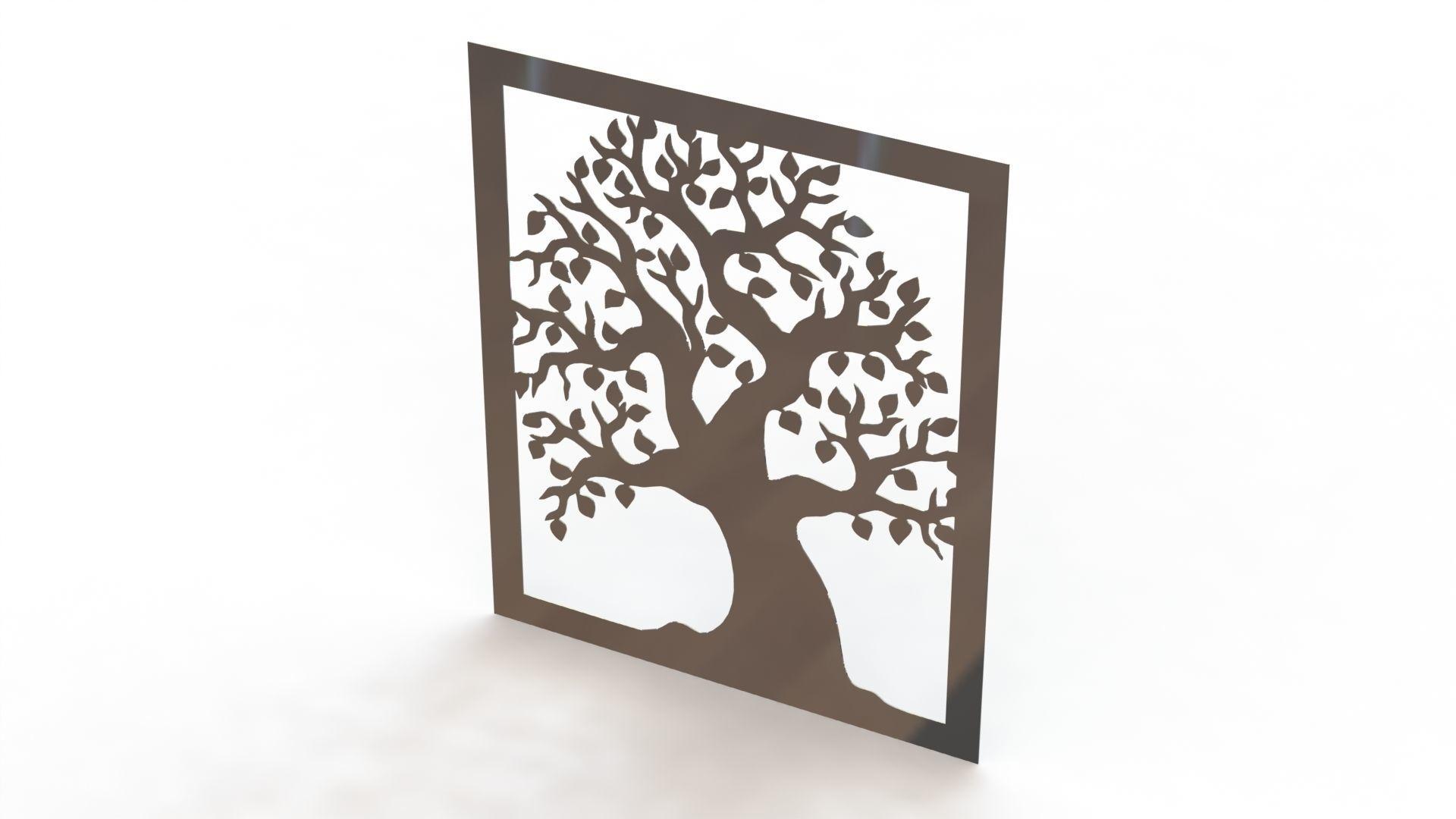 Tree steel painting
