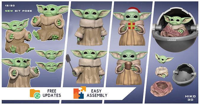The Child - GROGU - Baby Yoda - The Mandalorian - Star Wars