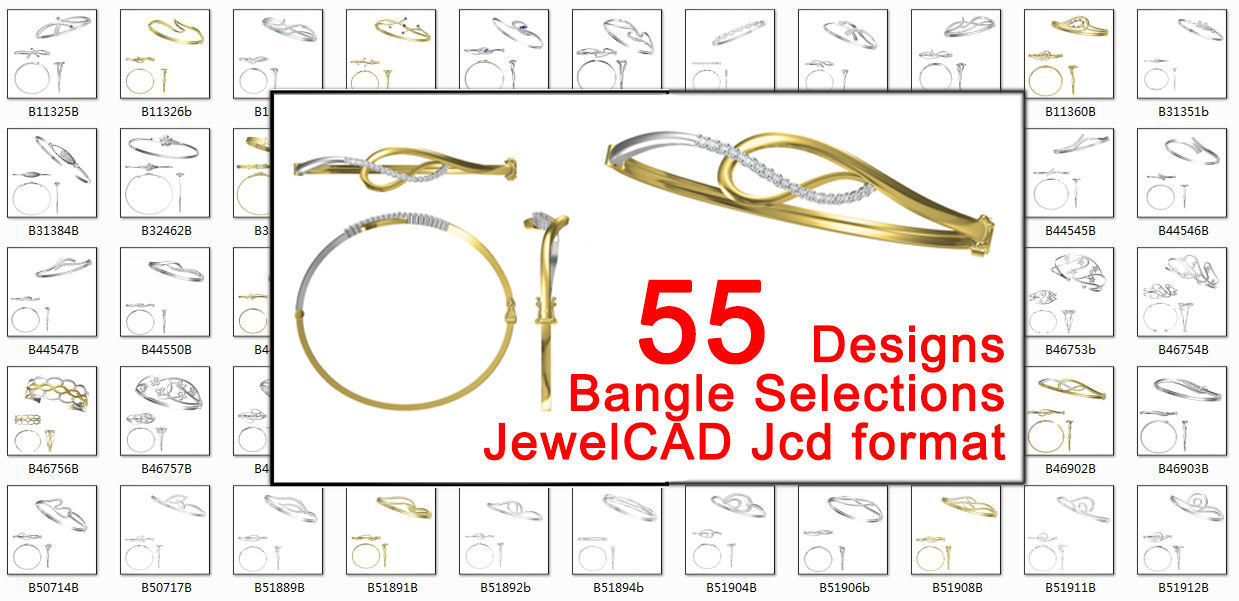55 bangle designs collection for jewelry jcd file jewelcad
