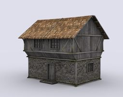 realtime medival house 3d model