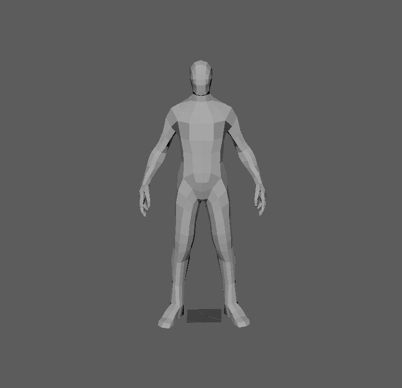 3D model 6 foot man   CGTrader