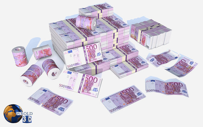 European Union Euro Currency Pack 3d model