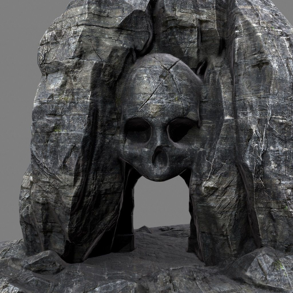 skull cave how tall