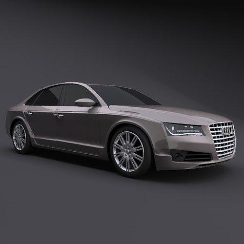 Luxury Audi 8: Audi A8 2011 Restyled Luxury Car 3D