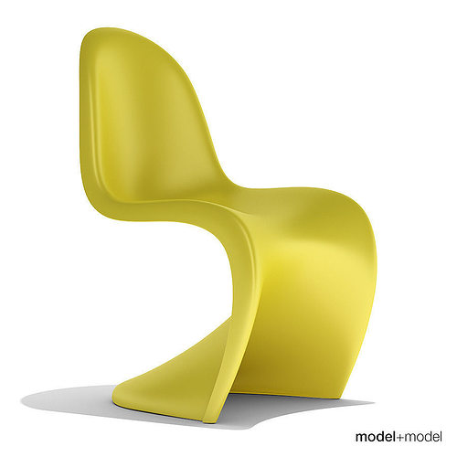 vitra panton chair 3d model cgtrader. Black Bedroom Furniture Sets. Home Design Ideas