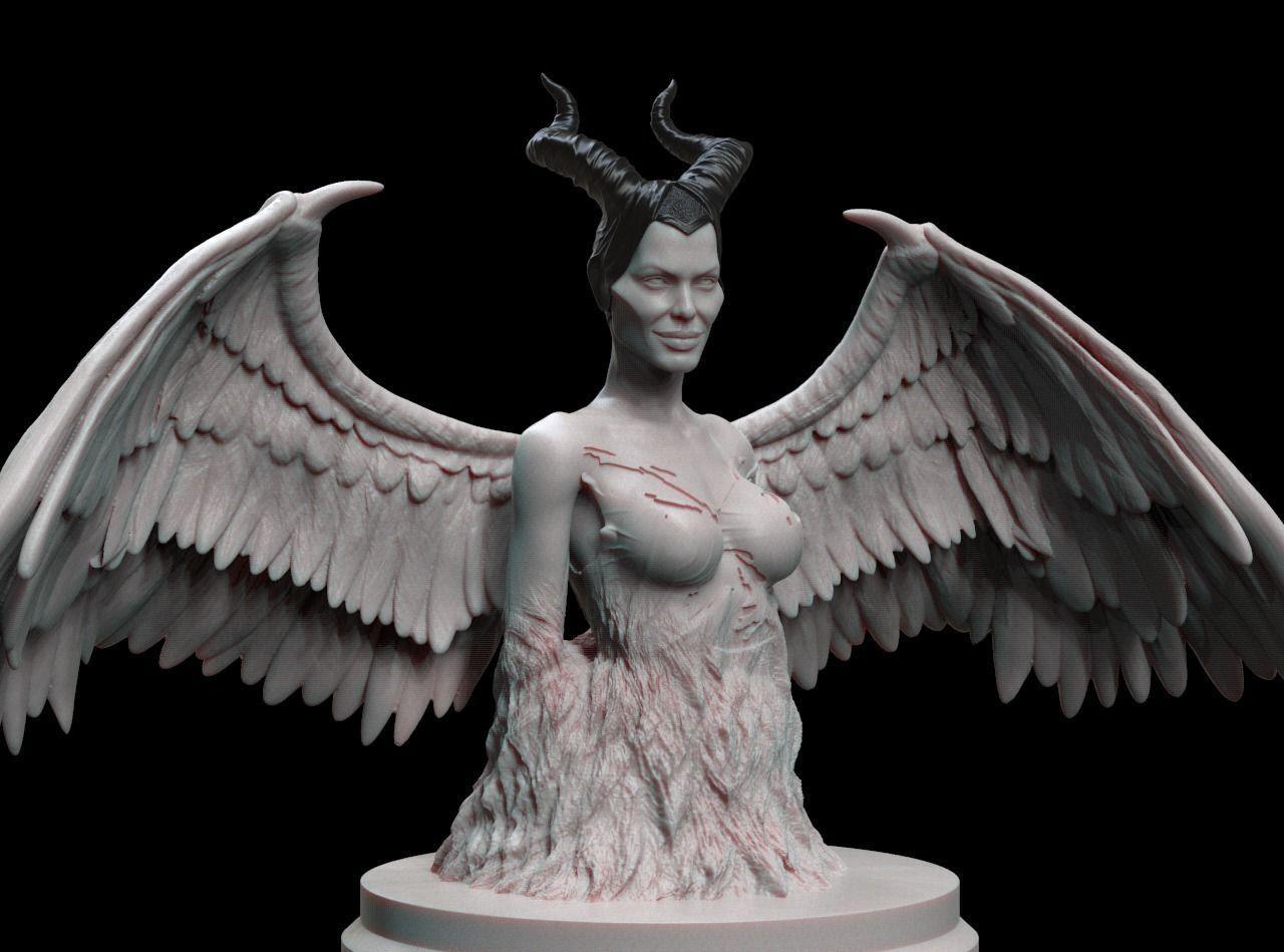 maleficent 3D bust