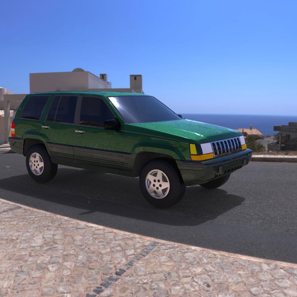 ... Jeep Grand Cherokee 94 3d Model Obj Mtl Pdf 2 ...