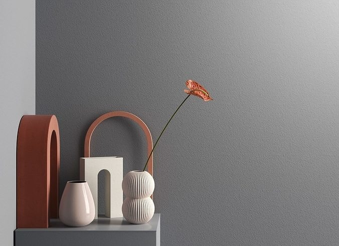 Anthurium with Decorative Objects