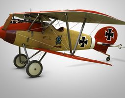 Fighter Aircraft Albatros 3D model