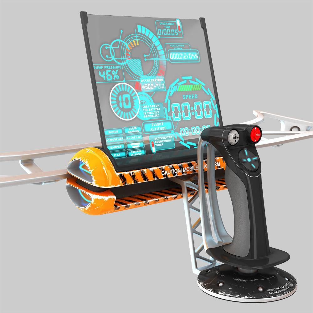 Mobile control unit with remote joystick