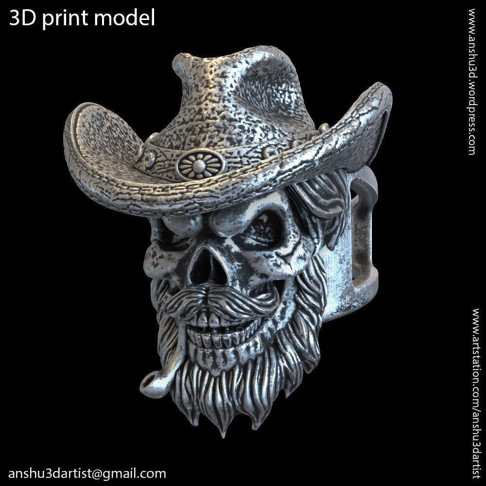 Skull gangster vol4 ring jewelry