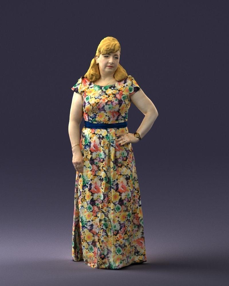 Flower dress 0623 3d print ready