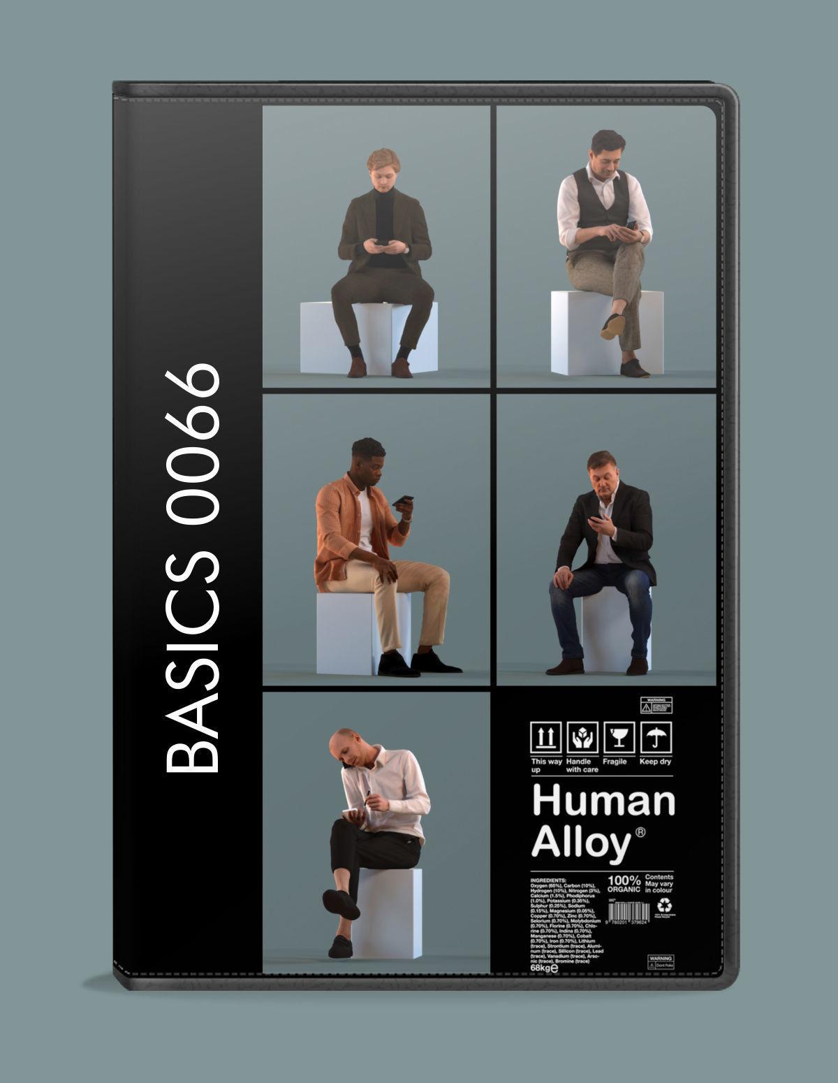 Set of 3D men talking on the phone