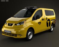 3D model Nissan NV200 New York Taxi 2014