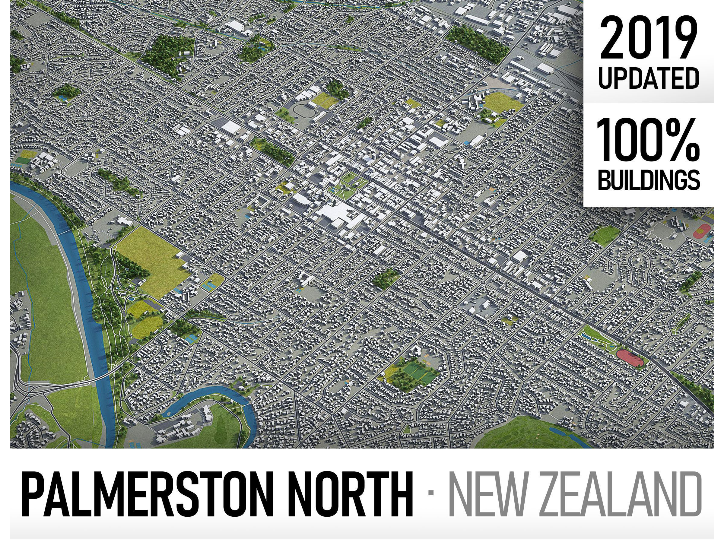 Palmerston North - city and surroundings