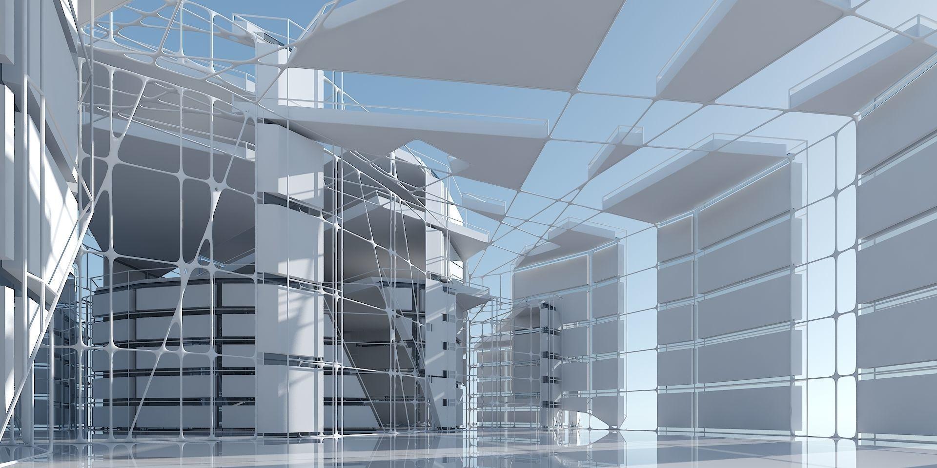 Futuristic Architectural Interior 13