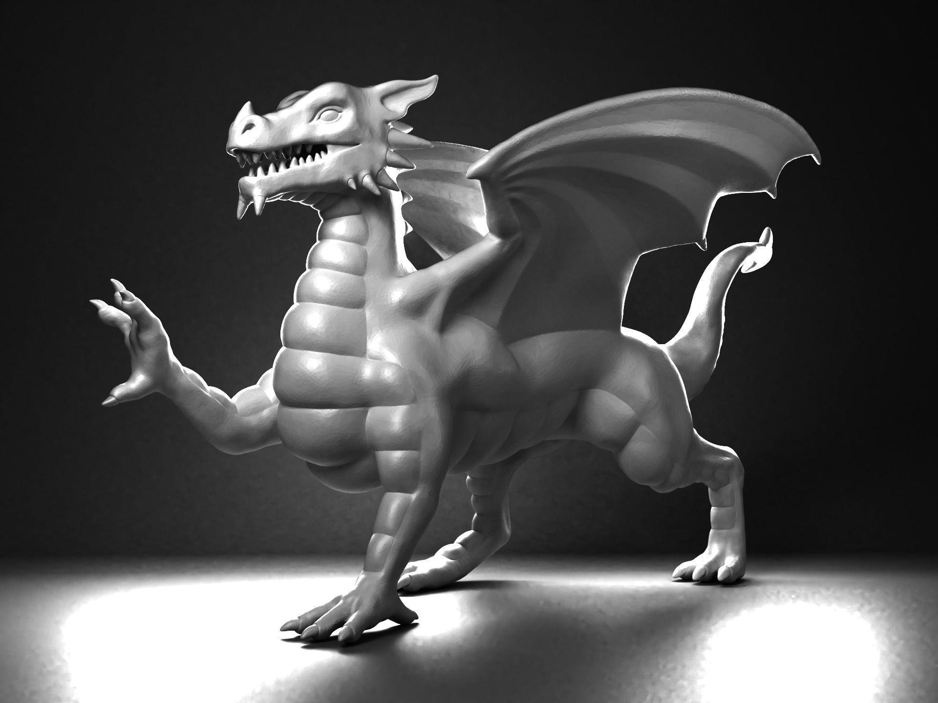 Monster Welsh Dragon Statue 3d Printable Cgtrader