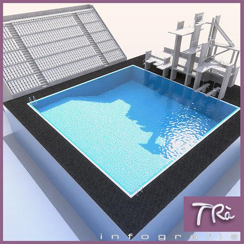 Diving Pool 3d Model Max Tga
