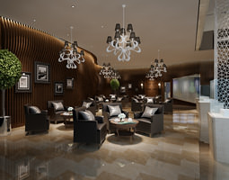 lobbies and halls interior collection 10 models 3d