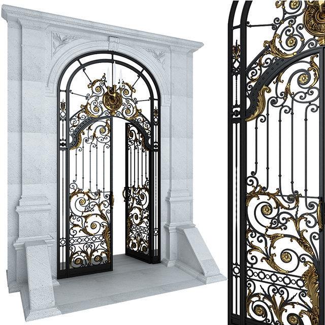 Entry door gate