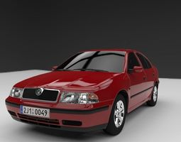 VR / AR ready skoda octavia 3d model