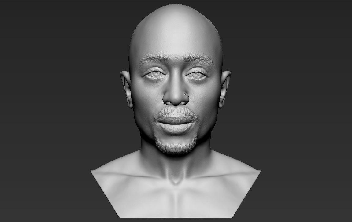 Tupac Shakur bust 3D printing ready stl obj formats