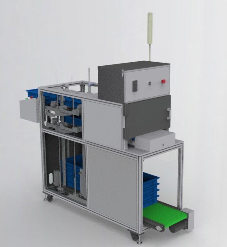 Stacking box feeding machine