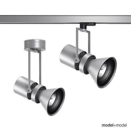 iguzzini le perroquet spotlights 3d model rigged max obj mtl fbx mat 1