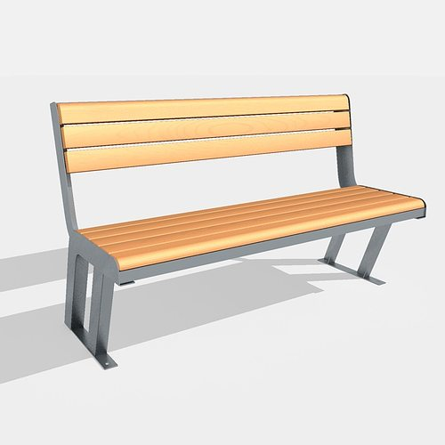 bench street chair 3d asset cgtrader
