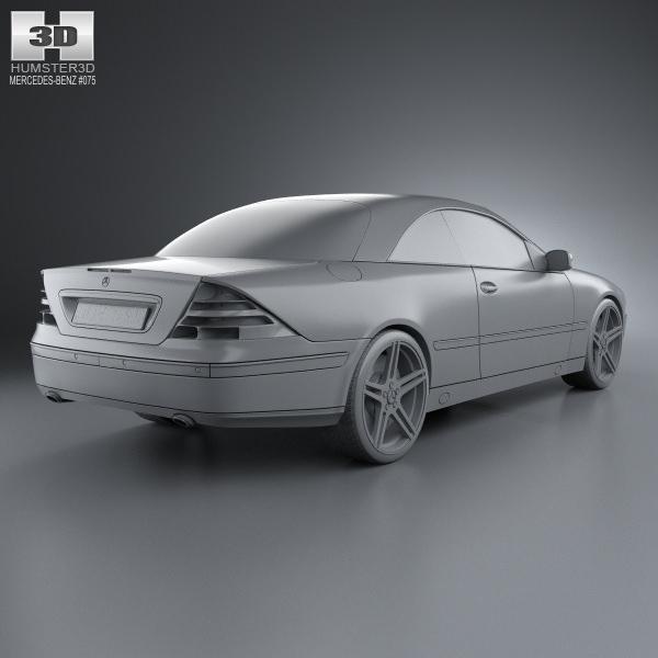 Mercedes benz cl class w215 2006 3d model max obj 3ds fbx for Mercedes benz 2006 models