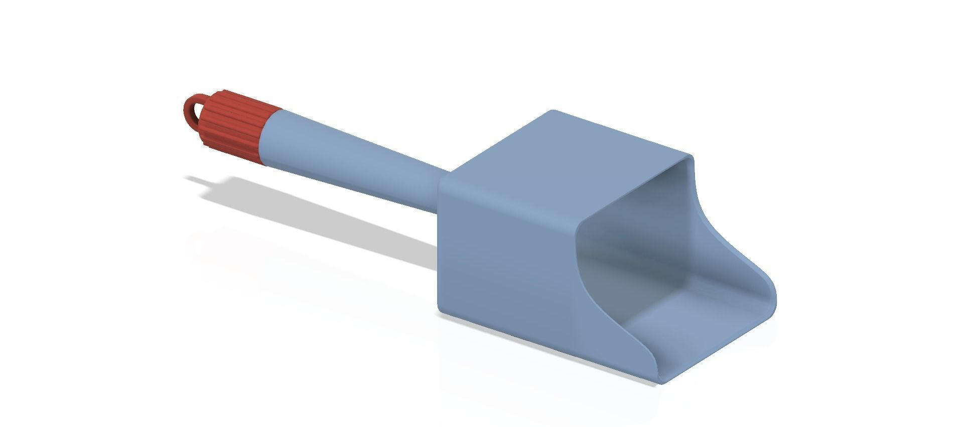 scoop with funnel for small boats and yachts 3d print and cnc
