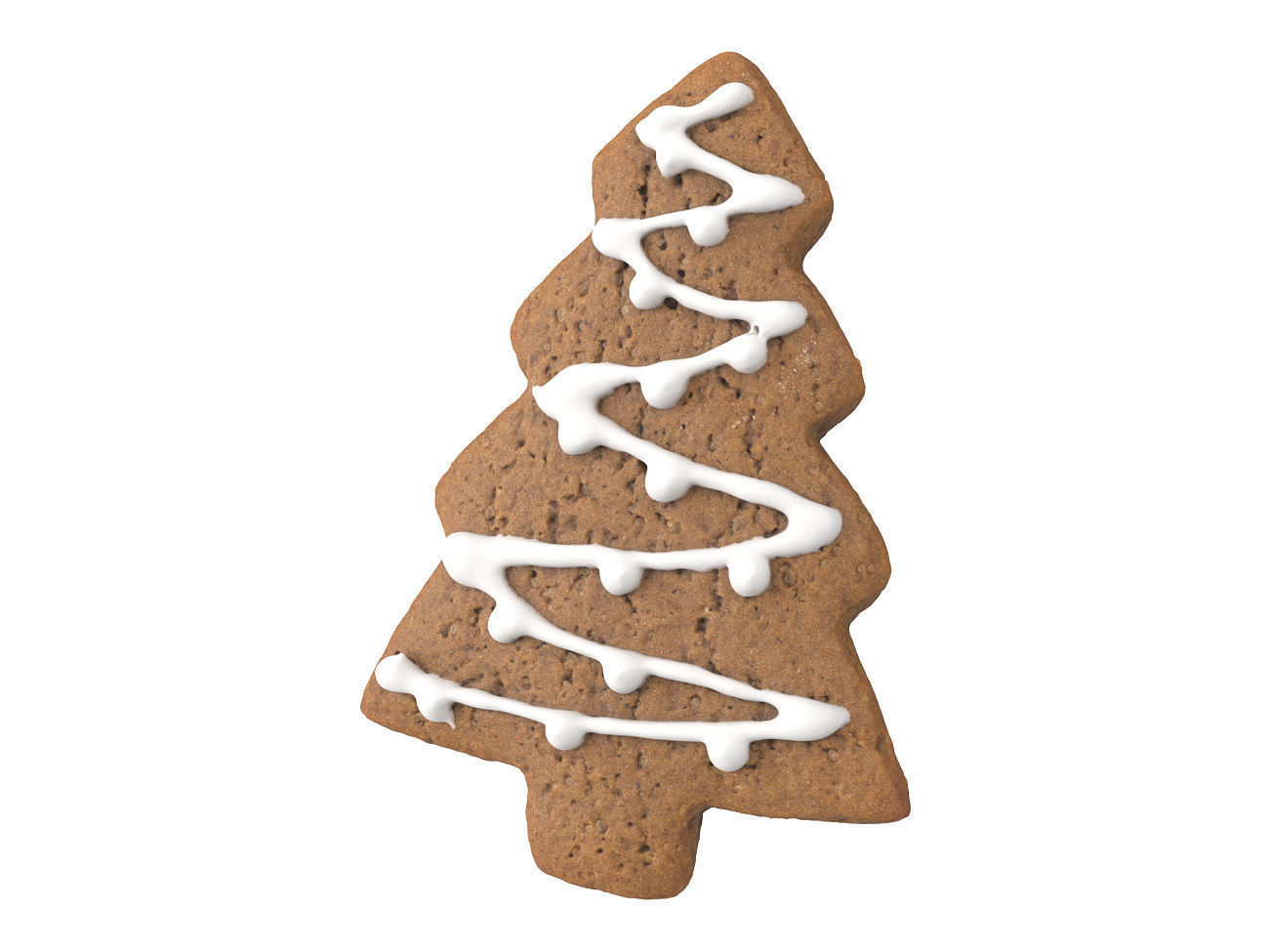 Photorealistic Christmas Tree Gingerbread 3D Scan 1