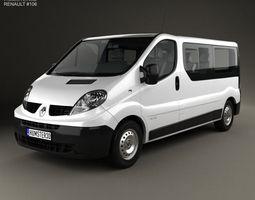 3D Renault Trafic Passenger Van LWB 2010