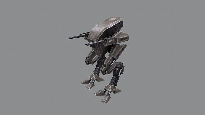 mech 1 3d model low-poly max obj mtl 3ds fbx 1