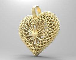 3D print model hearts pandants