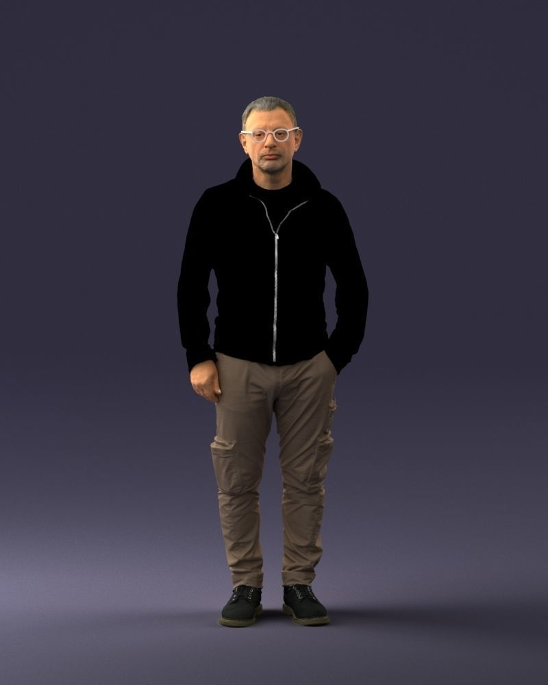 Style man in khaki pants 1008 3d print ready