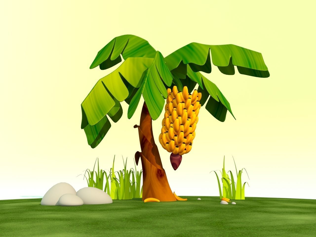 Cartoon Banana Tree 3d Model Cgtrader We offers cute banana cartoon products. cartoon banana tree 3d model