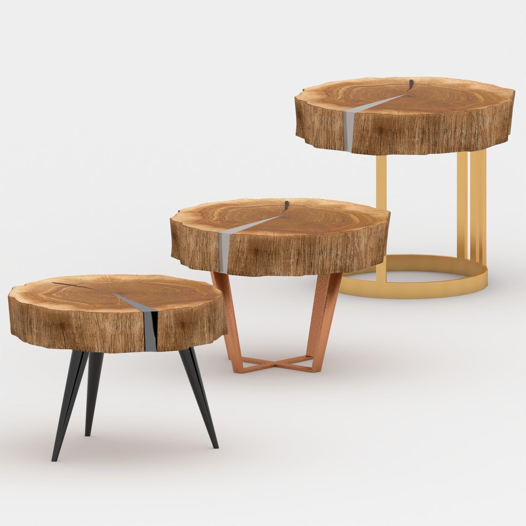 3d Wood Slab Live Edge Coffee Table Cgtrader