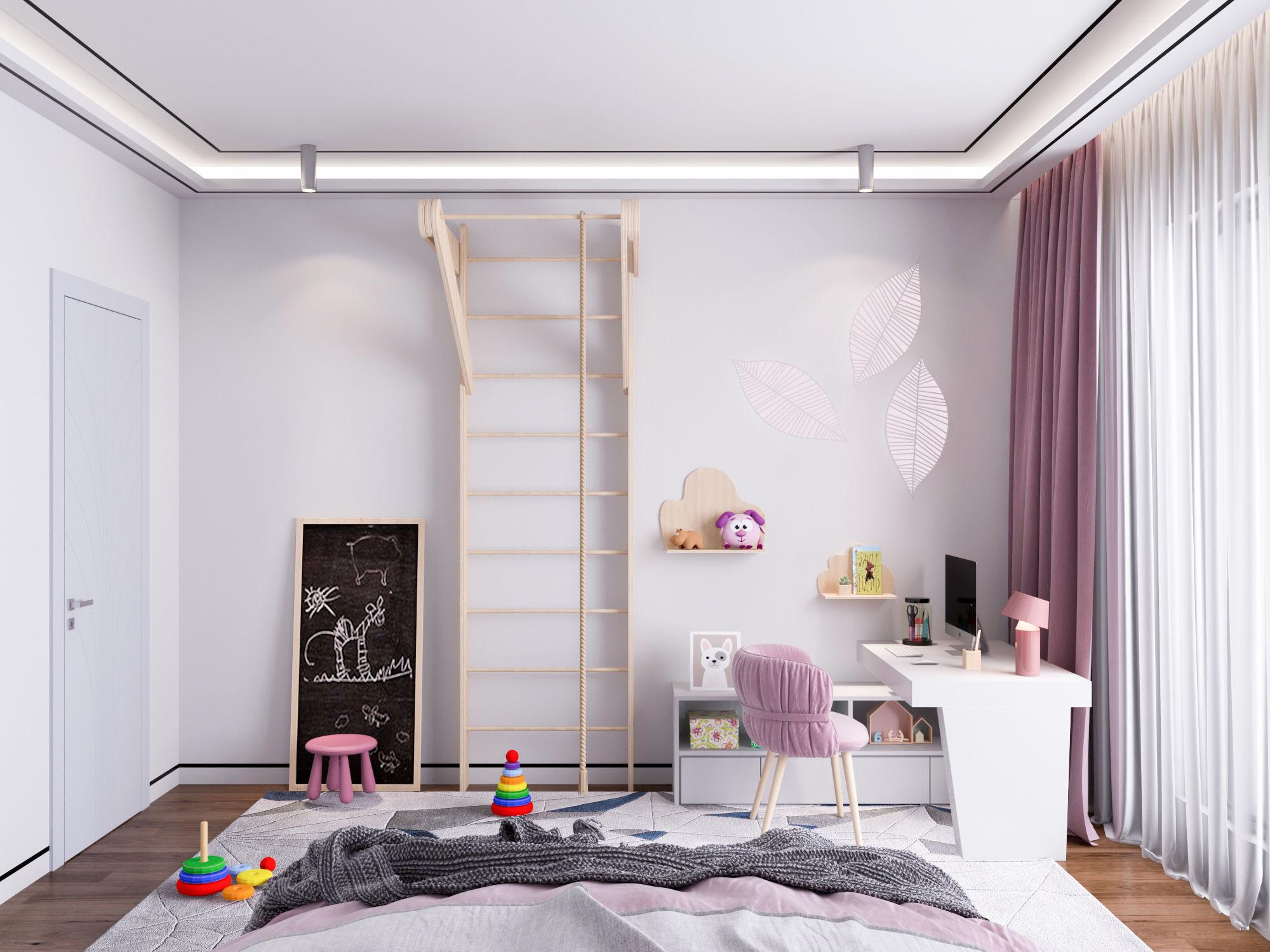 Modern children bedroom | 3D model