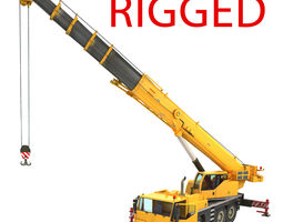 Mobile Crane Rigged 3D