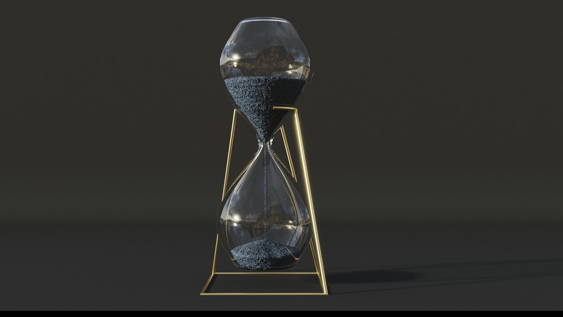 Hourglass Lowpoly