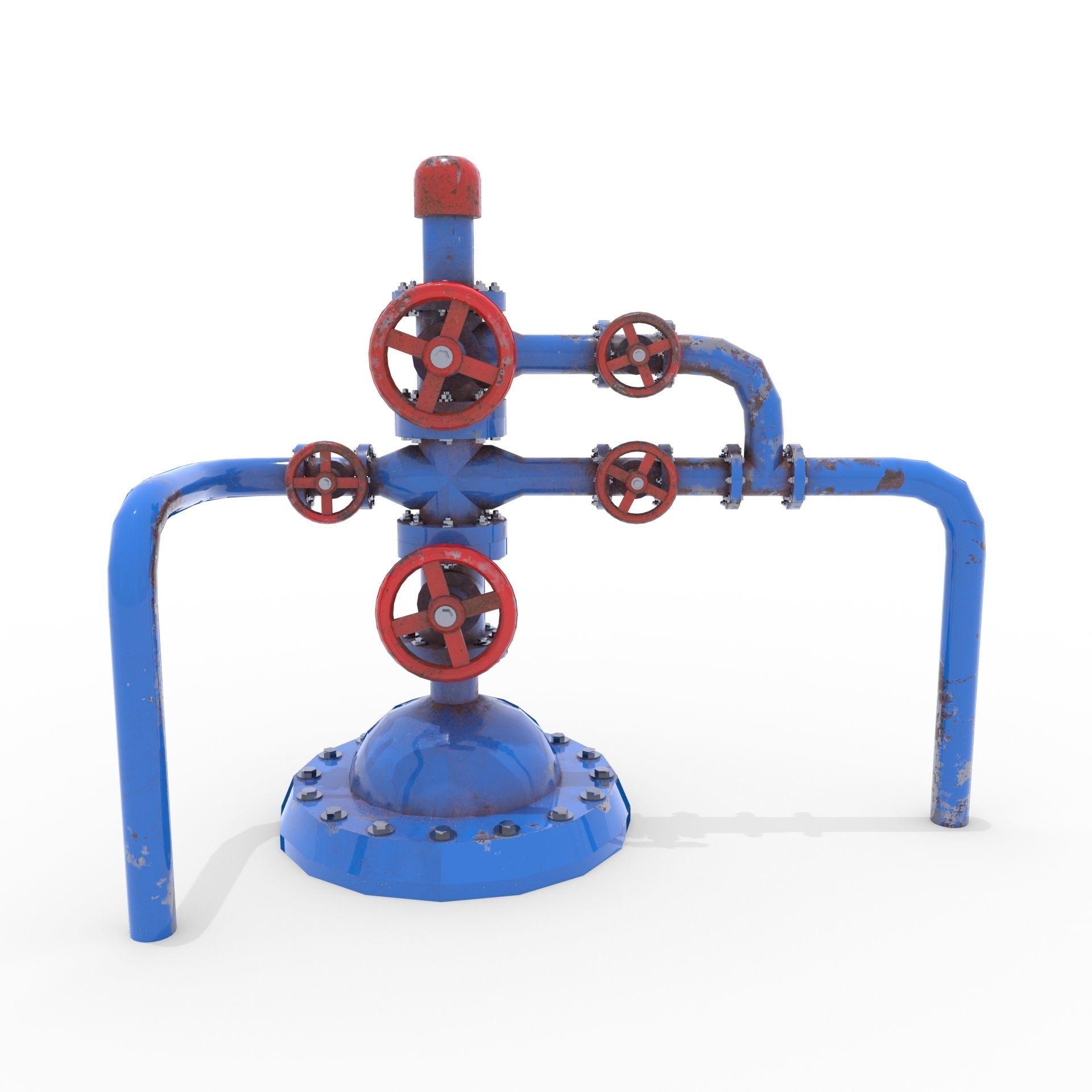 Oil Pumpjack Wellhead 1