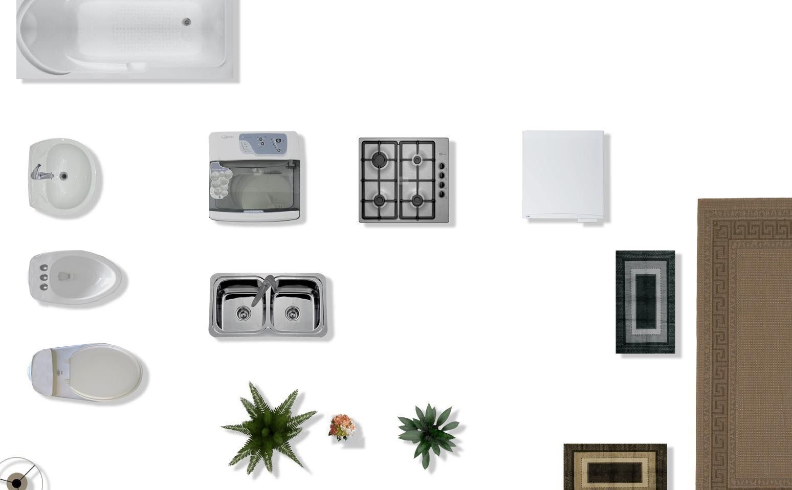 Furniture top view images -  Psd 2d Floorplan Furniture 3d Model