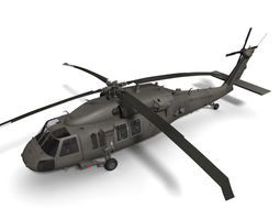 UH-60M Blackhawk 3D Model