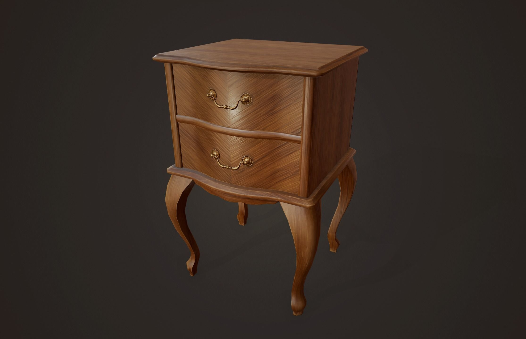 Bedside Table - PBR Game Ready
