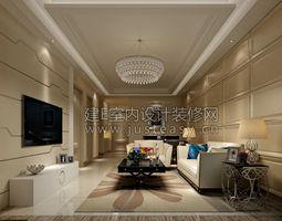 Luxury living room kitchen bathroom entrance study bedroom villa office  239 3D Model