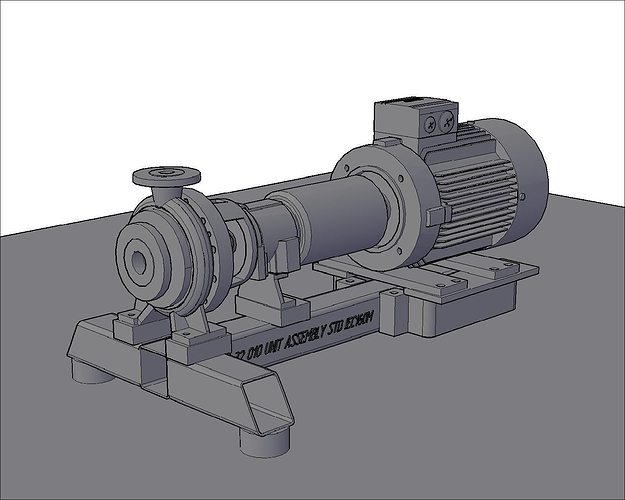 sulzer pump 3d model cgtrader